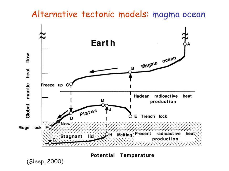 Alternative tectonic models: magma ocean (Sleep, 2000)