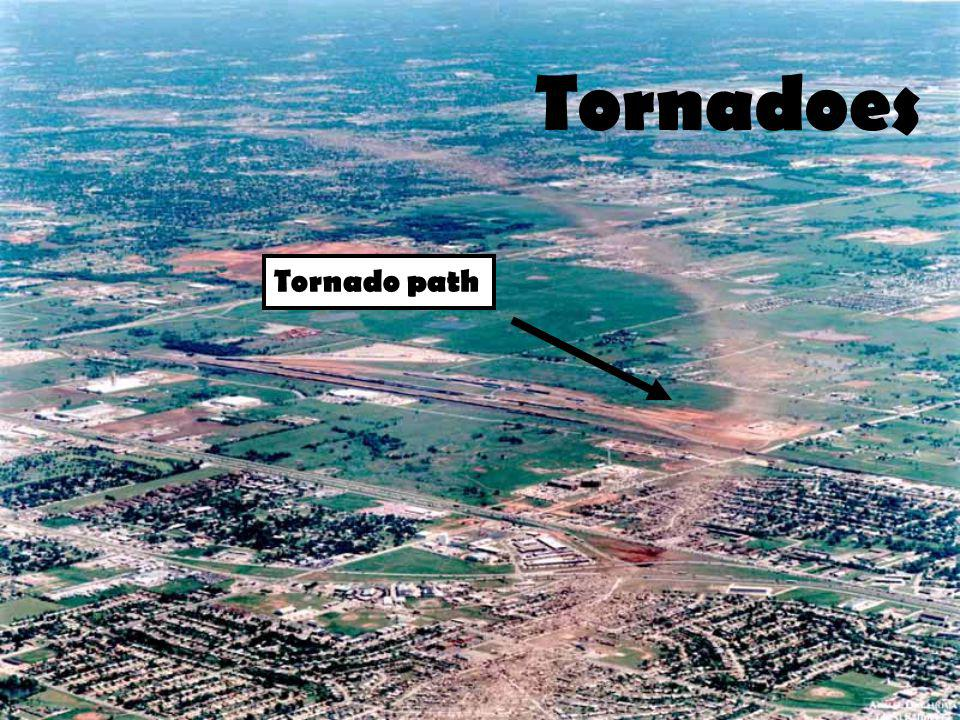 Tornadoes Tornado path