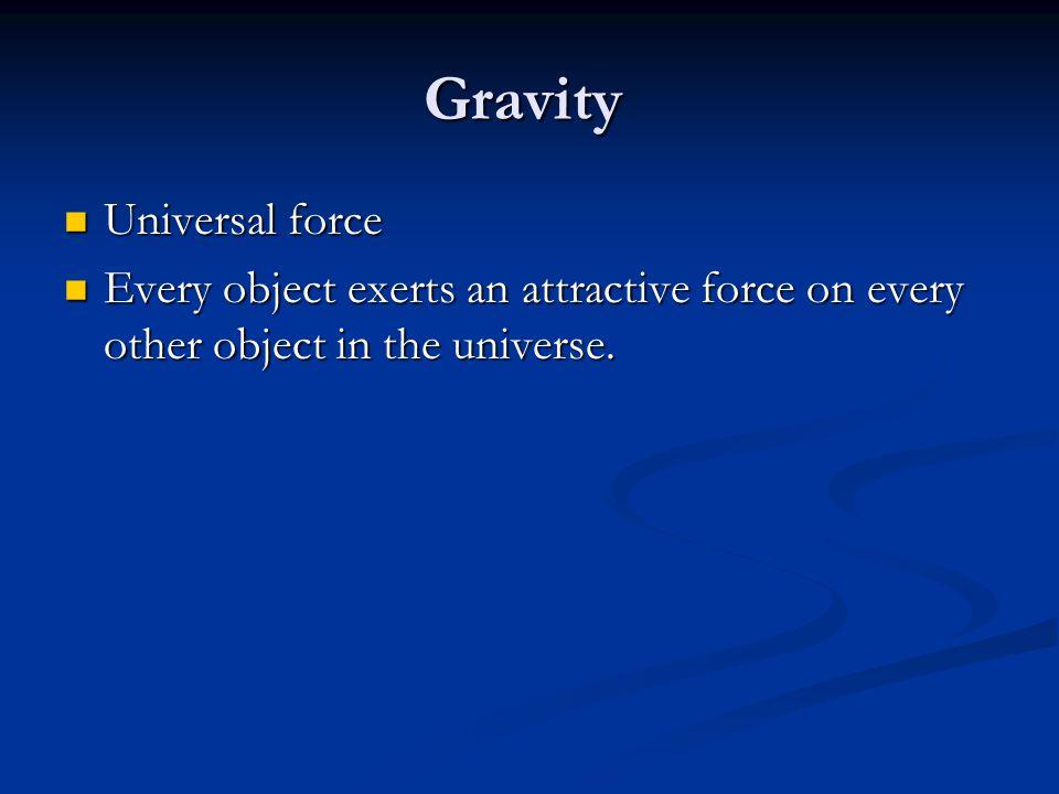 Gravity and Mass Mass Mass The amount of matter in an object.