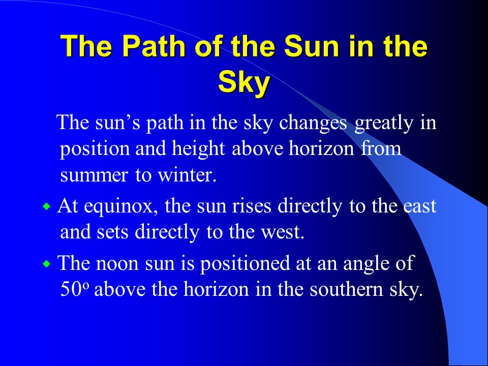 Insolation over the Globe ◆ Insolation(incoming solar radiation) depends on the angle of the sun above the horizon.