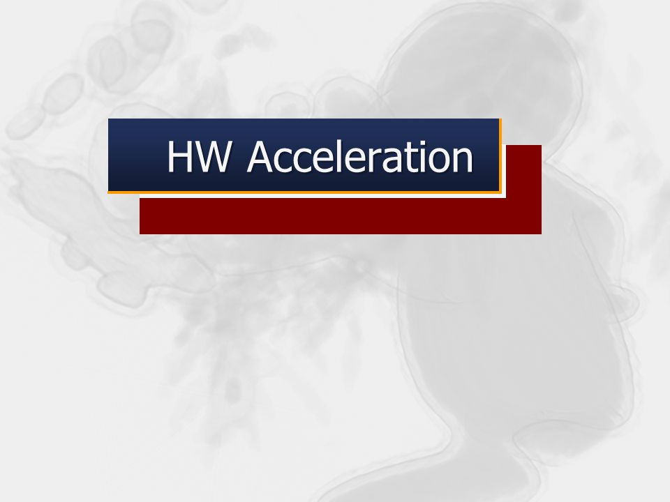 HW Acceleration