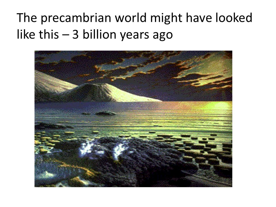 The precambrian world might have looked like this – 3 billion years ago