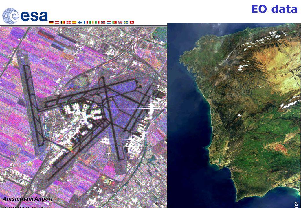 10 th June 2004 HiSEEN Presentation 10 Amsterdam Airport (ERS SAR, 25 m) Portugal (ENVISAT MERIS, 300 m) EO data