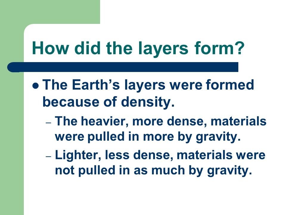 What are the layers made of? Crust: