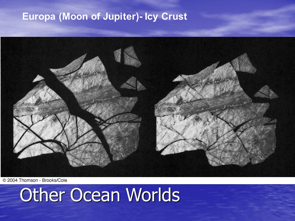 Europa (Moon of Jupiter)- Icy Crust Other Ocean Worlds