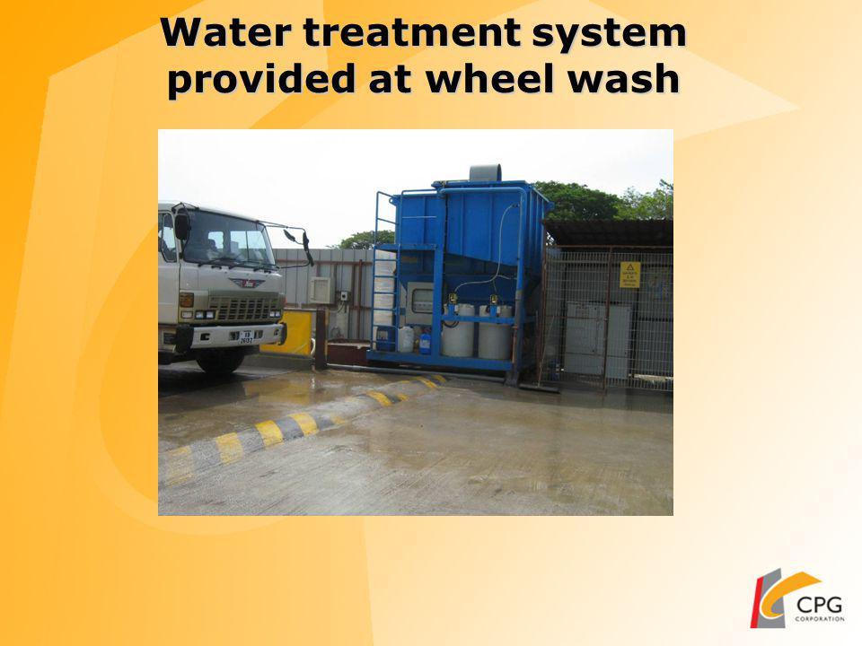 Wheel Wash at Main entrance