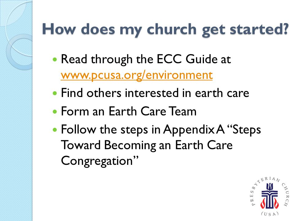 How does my church get started.