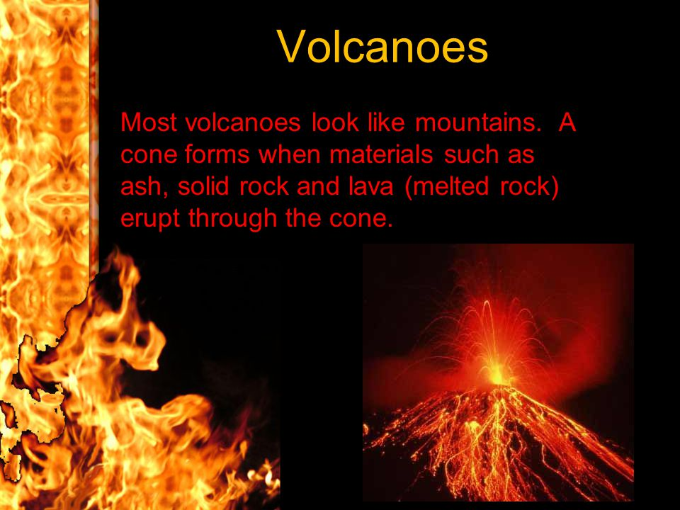 Below Earth's crust, red-hot rock, called magma, rises up.