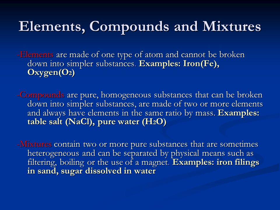 Properties of the Elements Metals: (e.g.