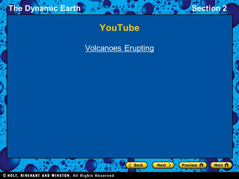 The Dynamic EarthSection 2 YouTube Volcanoes Erupting