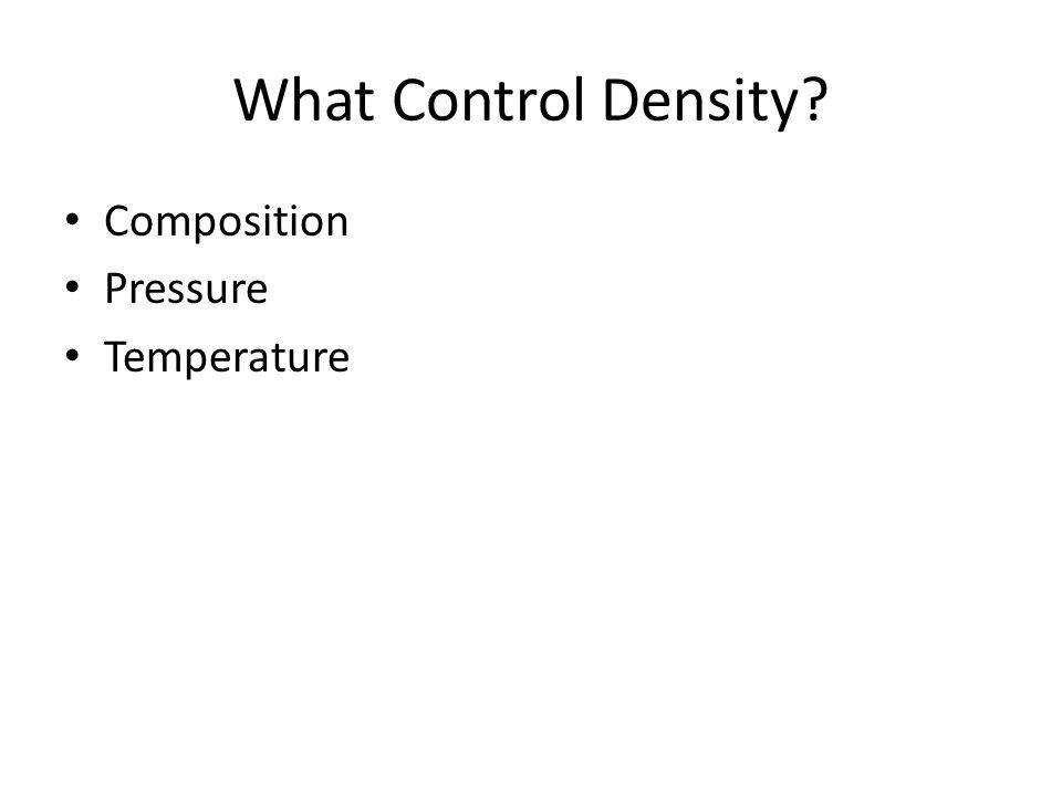 Composition Pressure Temperature