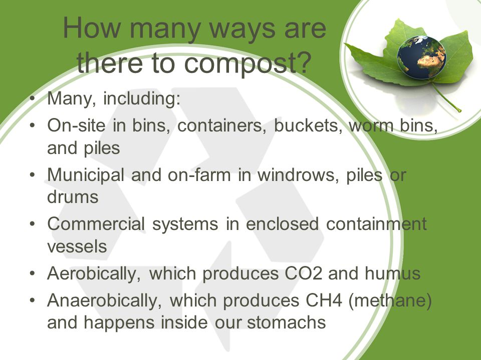 How many ways are there to compost.