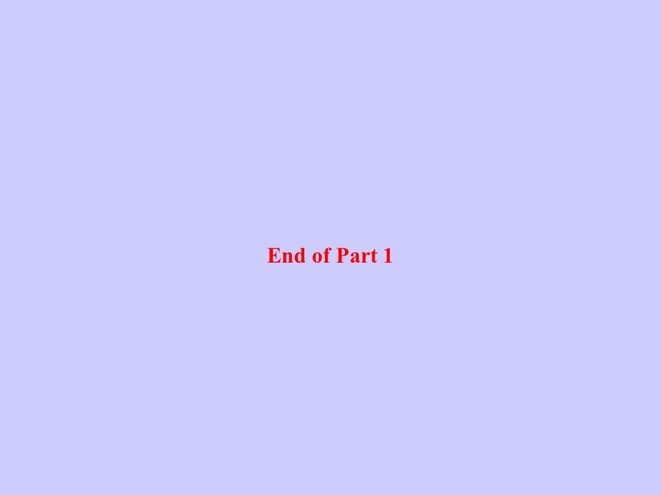 End of Part 1