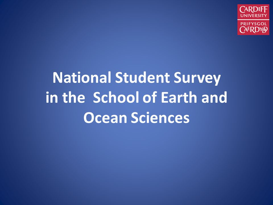 National Student Survey in the School of Earth and Ocean Sciences