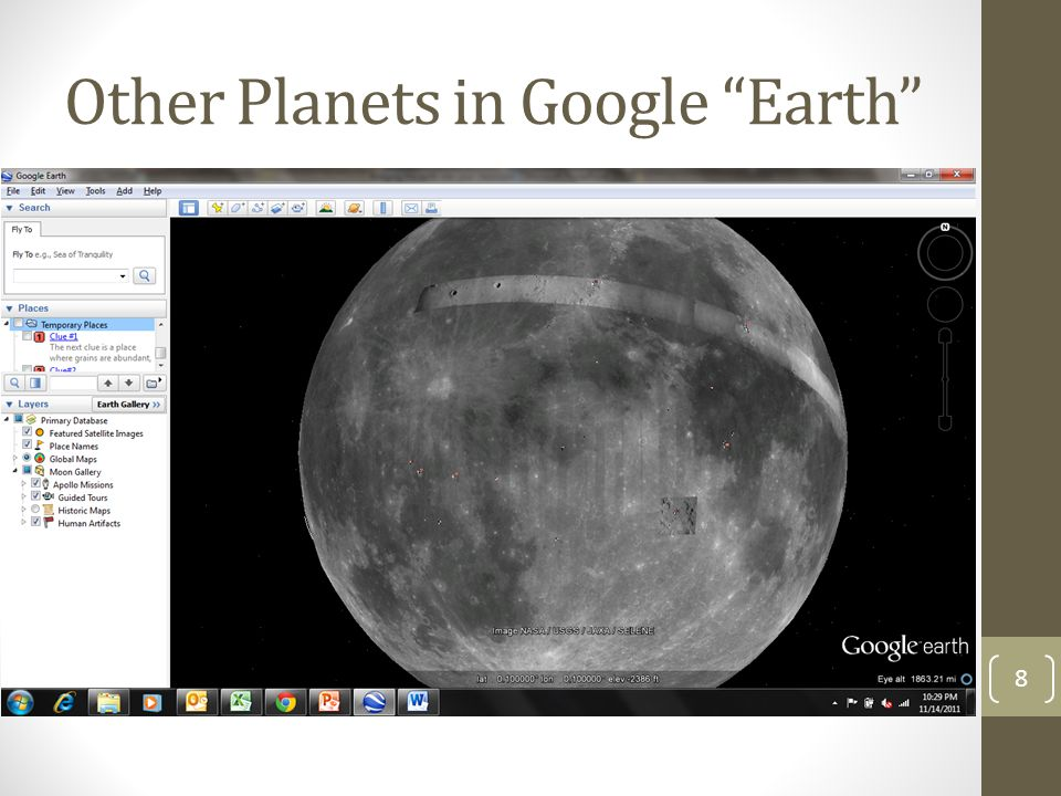 "Other Planets in Google ""Earth"" 8"