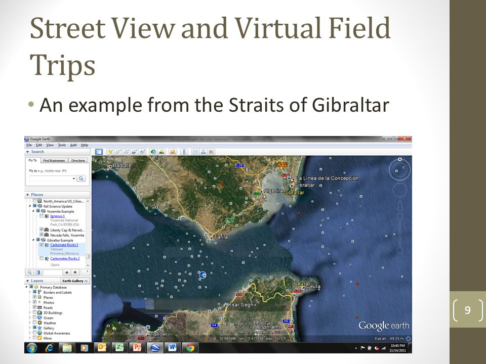 Street View and Virtual Field Trips An example from the Straits of Gibraltar 9