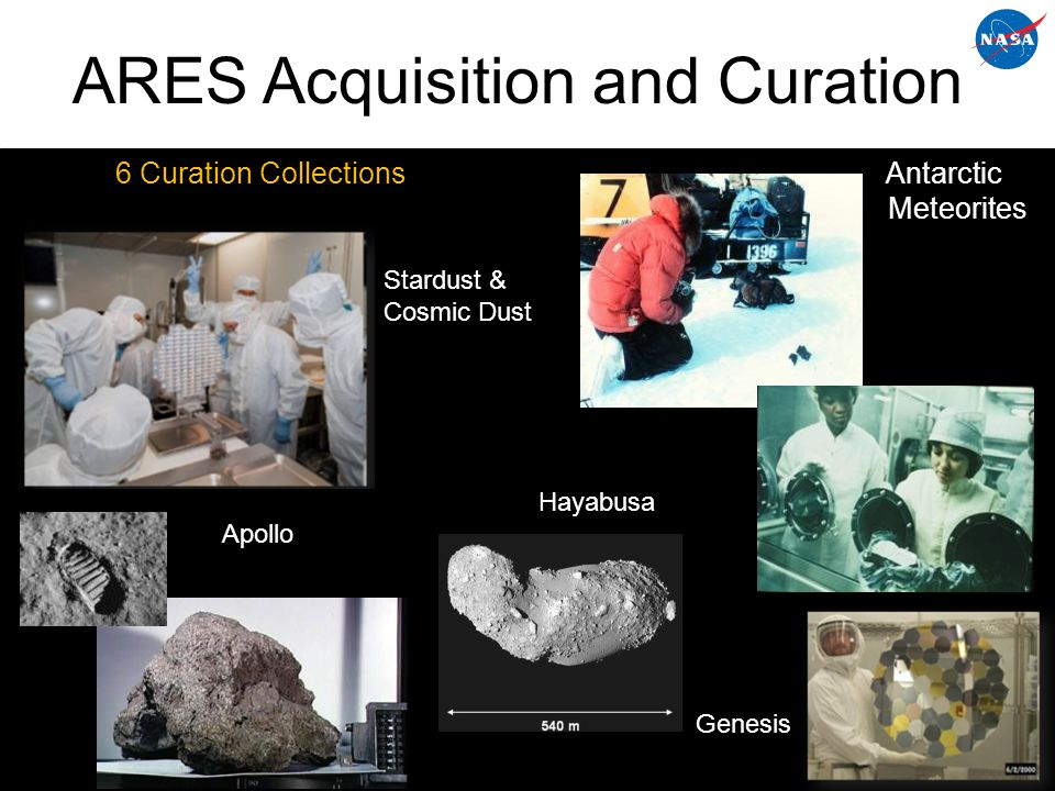 ARES Astromaterials Research Hypervelocity Impact Experiments NanoSIMS – isotopic analysis taking us further back in solar System history.