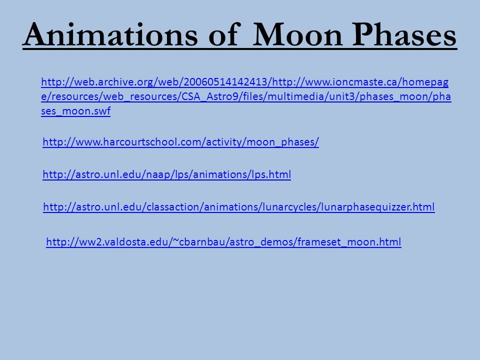http://web.archive.org/web/20060514142413/http://www.ioncmaste.ca/homepag e/resources/web_resources/CSA_Astro9/files/multimedia/unit3/phases_moon/pha