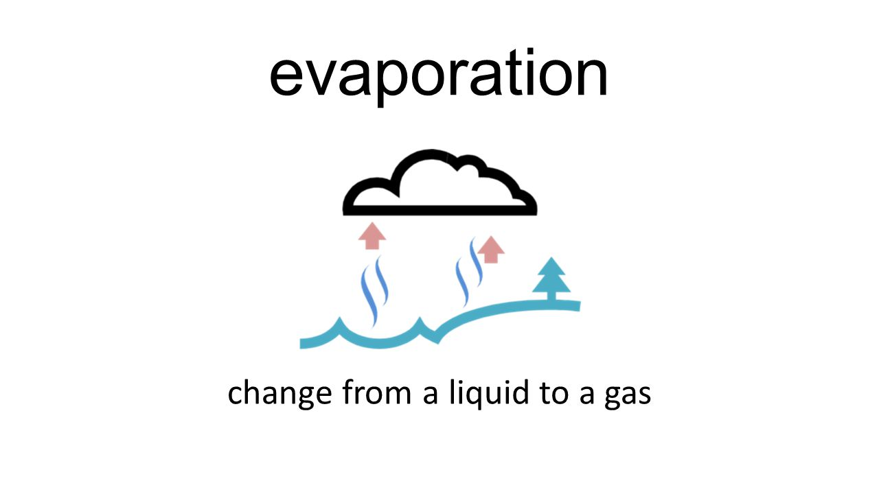 evaporation change from a liquid to a gas