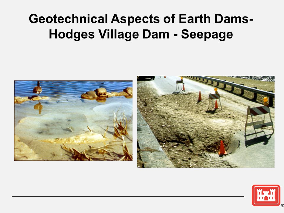 Geotechnical Aspects of Earth Dams- Hodges Village Dam - Seepage
