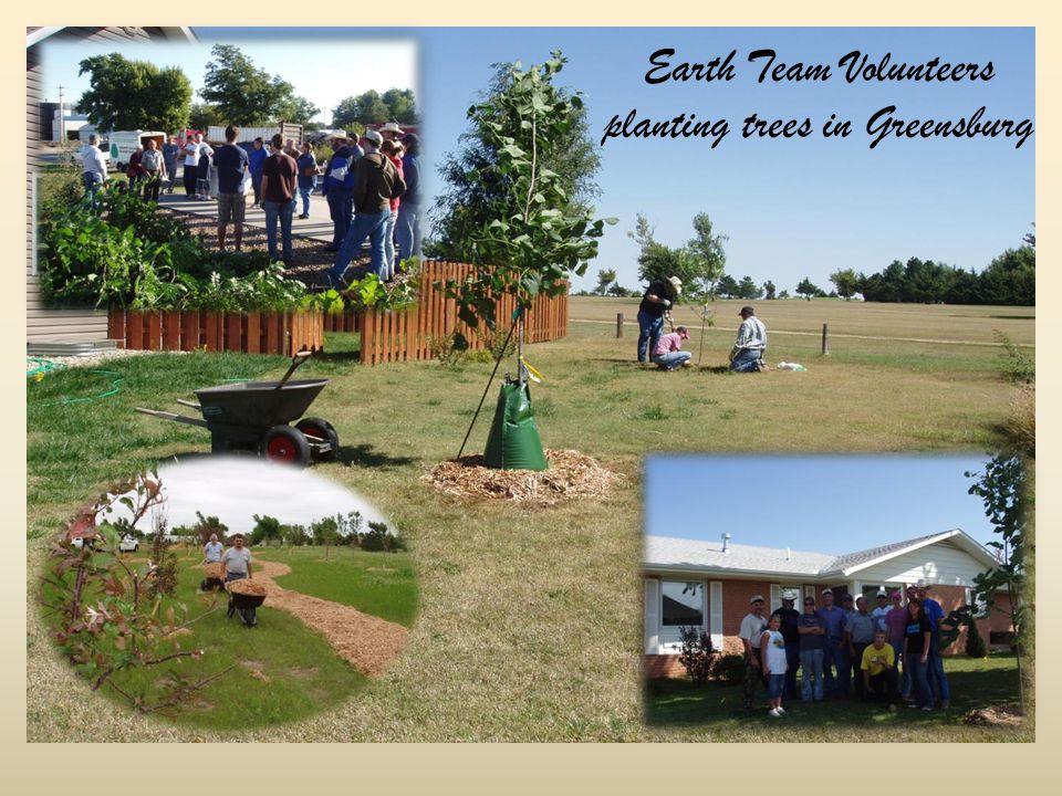 Earth Team Volunteers planting trees in Greensburg