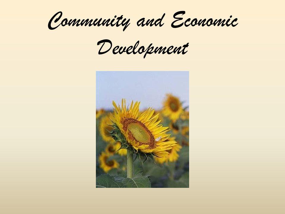 Community and Economic Development