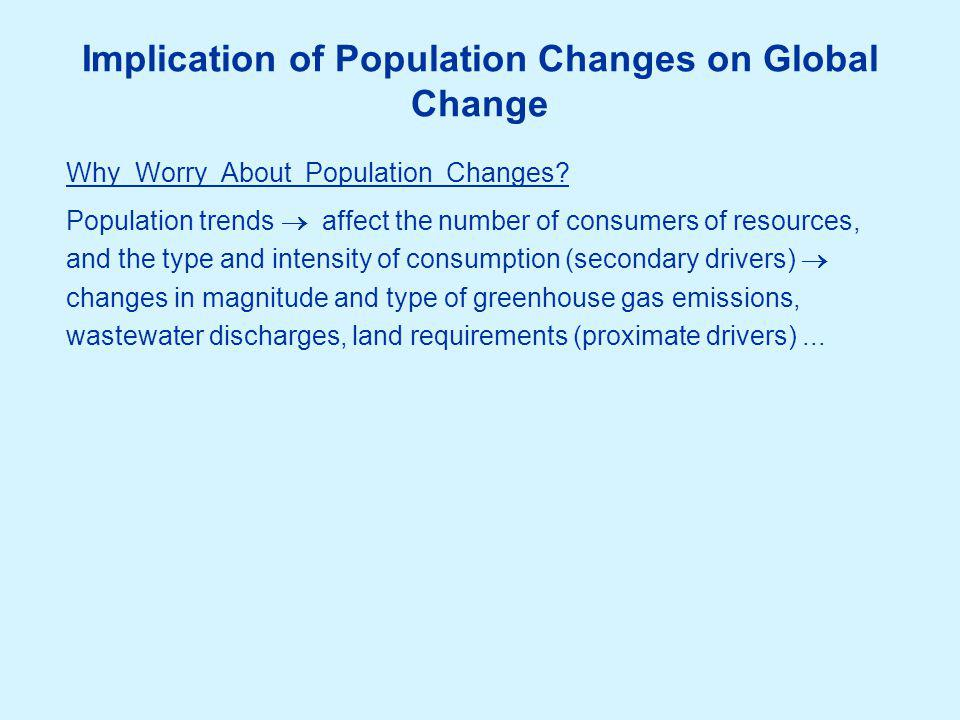 Anthropogenic Driving Forces Another prim driver -- econ  Primary Drivers Change in population (growth or shrinkage) ) Change in economy (growth or shrinkage) Structural change in the economy Technological change Societal changes (e.g.