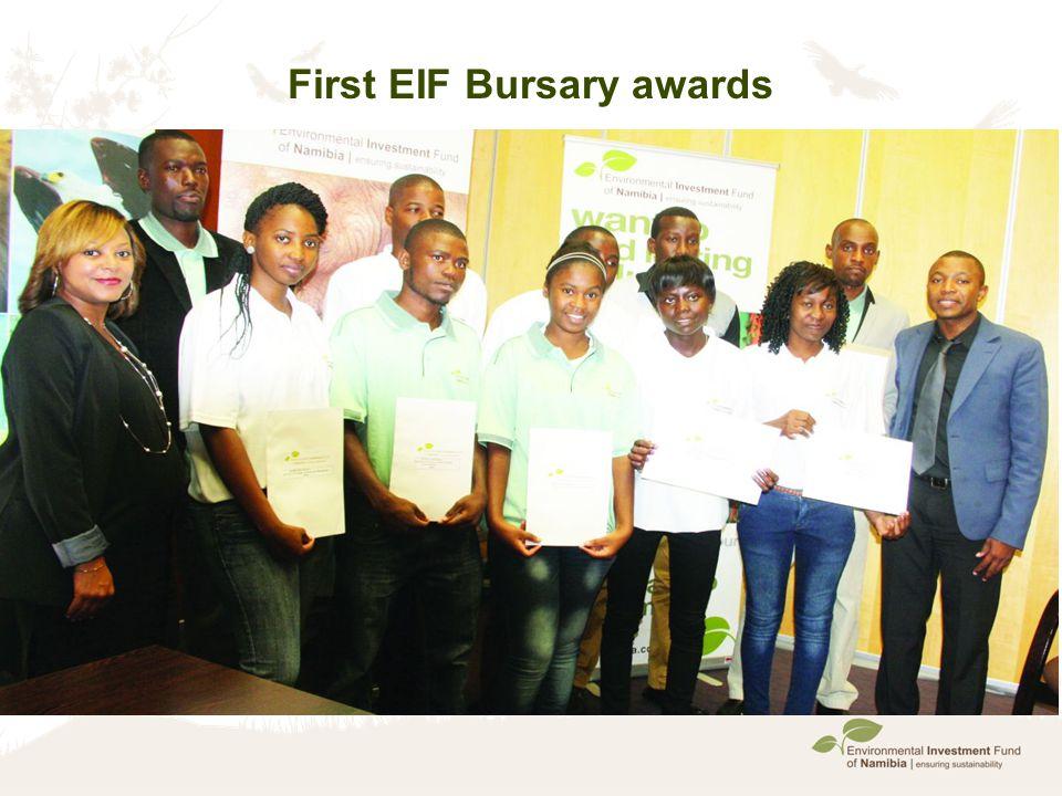 First EIF Bursary awards