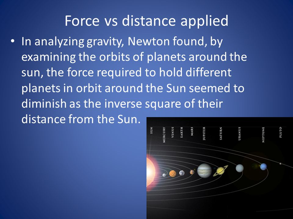 Newton's laws on Satellites For an orbiting satellite, the only force present is the force due to gravity.