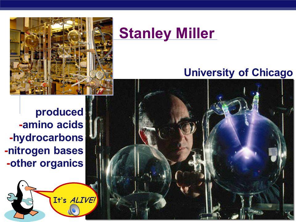 AP Biology Water vapor Condensed liquid with complex, organic molecules Condenser Mixture of gases (
