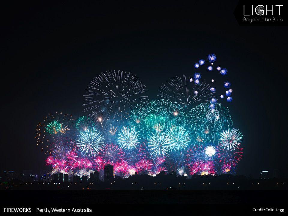 FIREWORKS – Perth, Western Australia Credit: Colin Legg