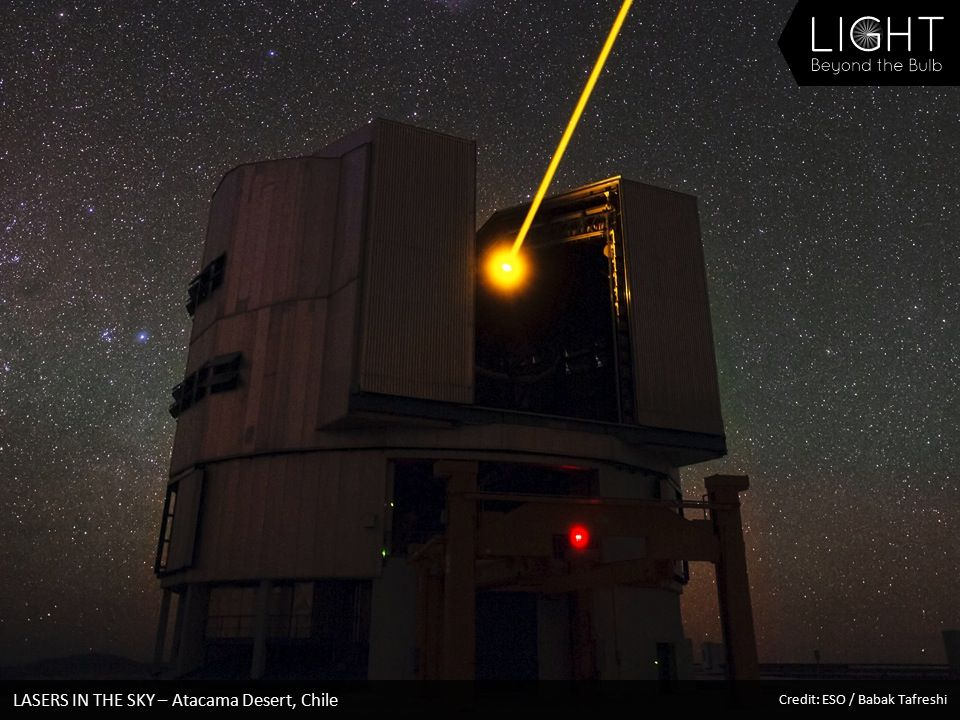 LASERS IN THE SKY – Atacama Desert, Chile Credit: ESO / Babak Tafreshi