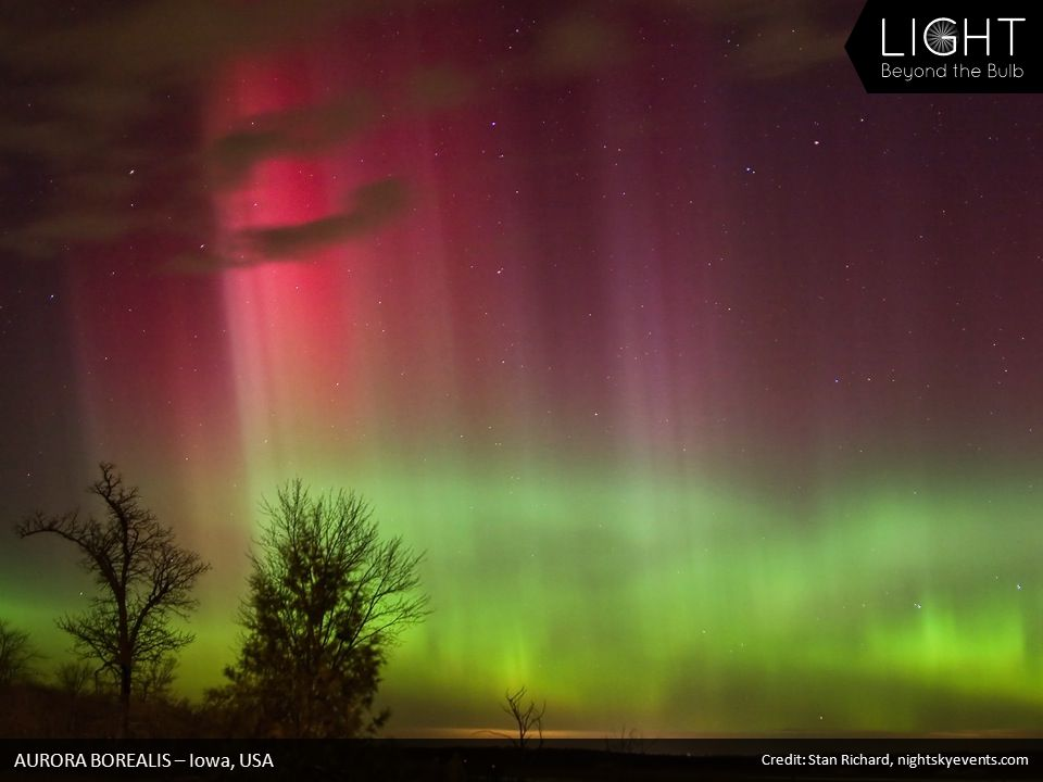 AURORA BOREALIS – Iowa, USA Credit: Stan Richard, nightskyevents.com