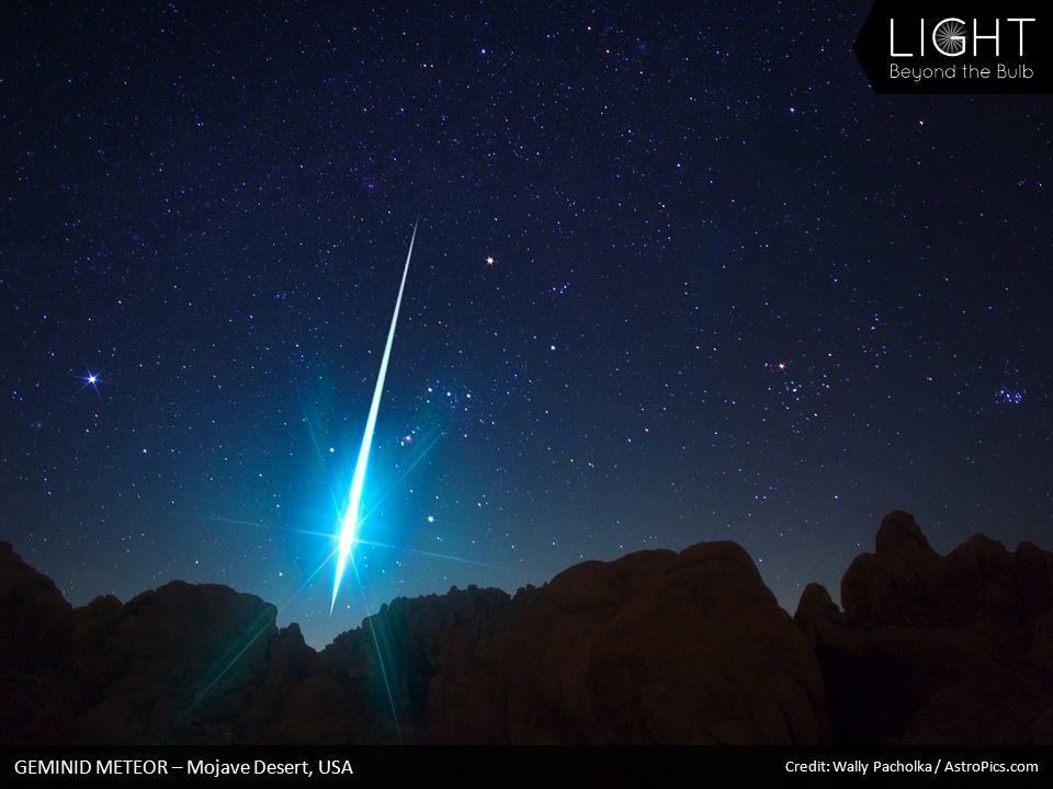 GEMINID METEOR – Mojave Desert, USA Credit: Wally Pacholka / AstroPics.com