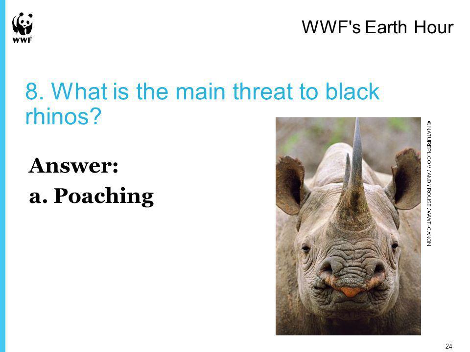 9.What do giant pandas eat. Answer: b.