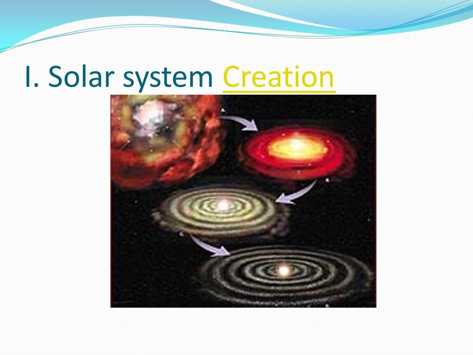 I. Solar system CreationCreation