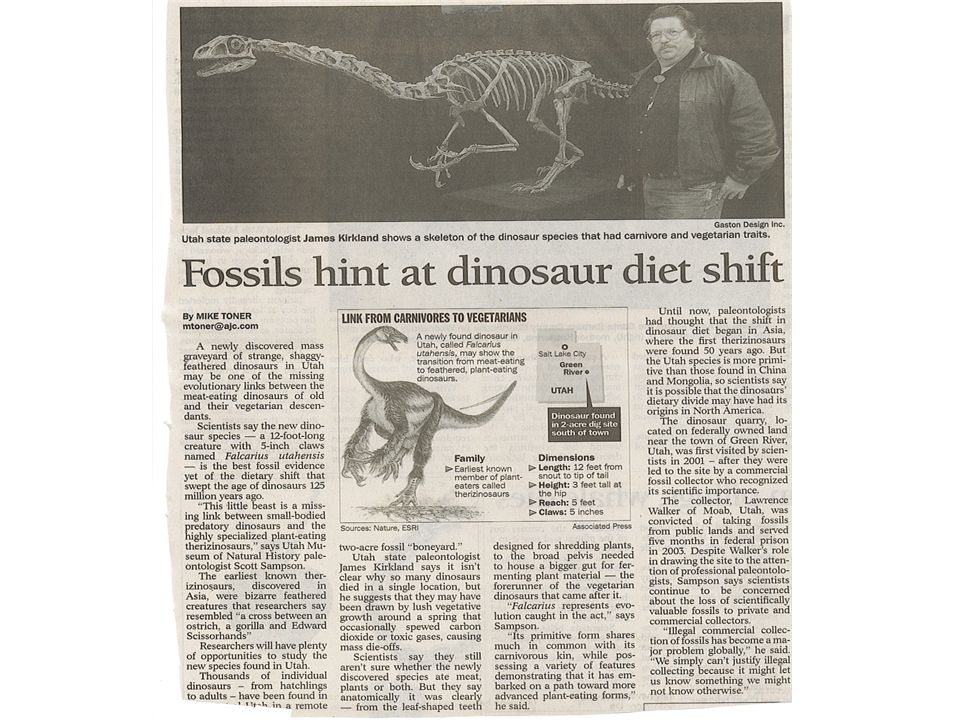 Life Science History of Life and Fossil Evidence S7L5.