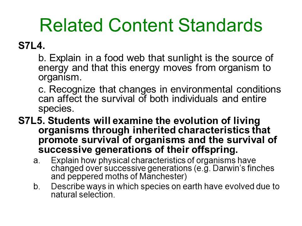 Characteristics of Science Standards S6CS1.