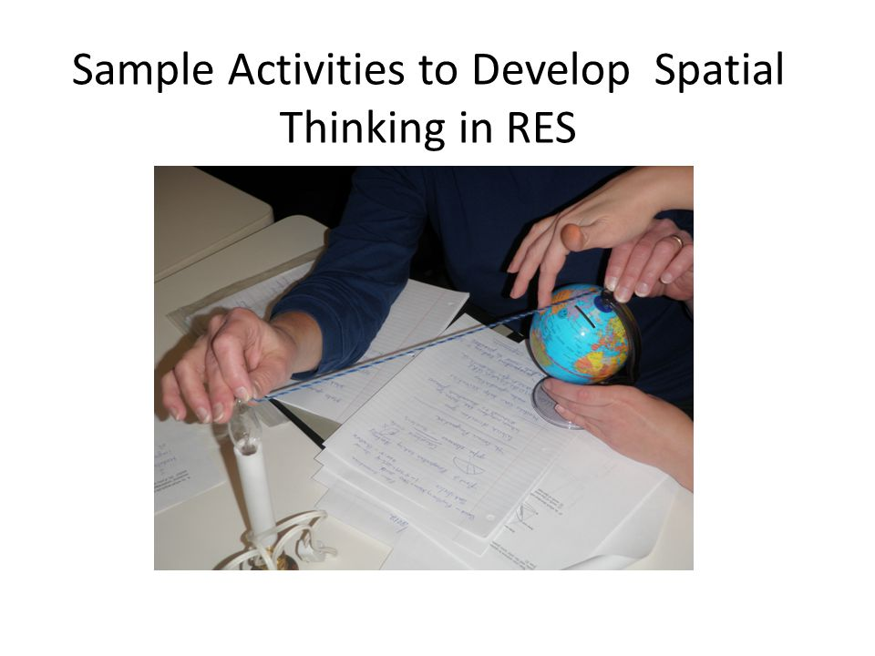 Sample Activities to Develop Spatial Thinking in RES