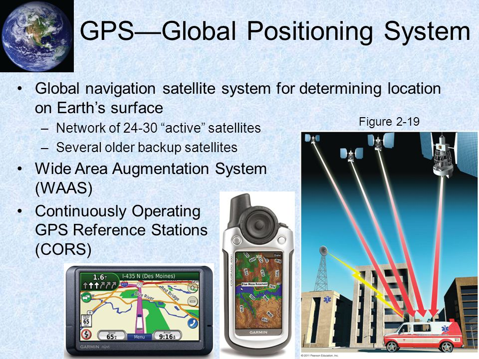 """GPS—Global Positioning System Global navigation satellite system for determining location on Earth's surface –Network of 24-30 """"active"""" satellites –Se"""