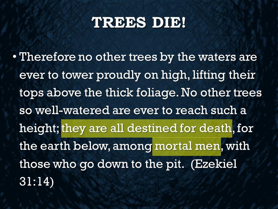 TREES DIE.