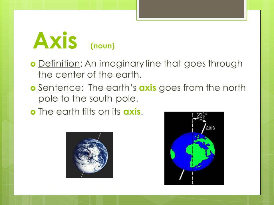 Rotation (noun) root word = rotate  Definition: To turn or spin around a central point or axis.