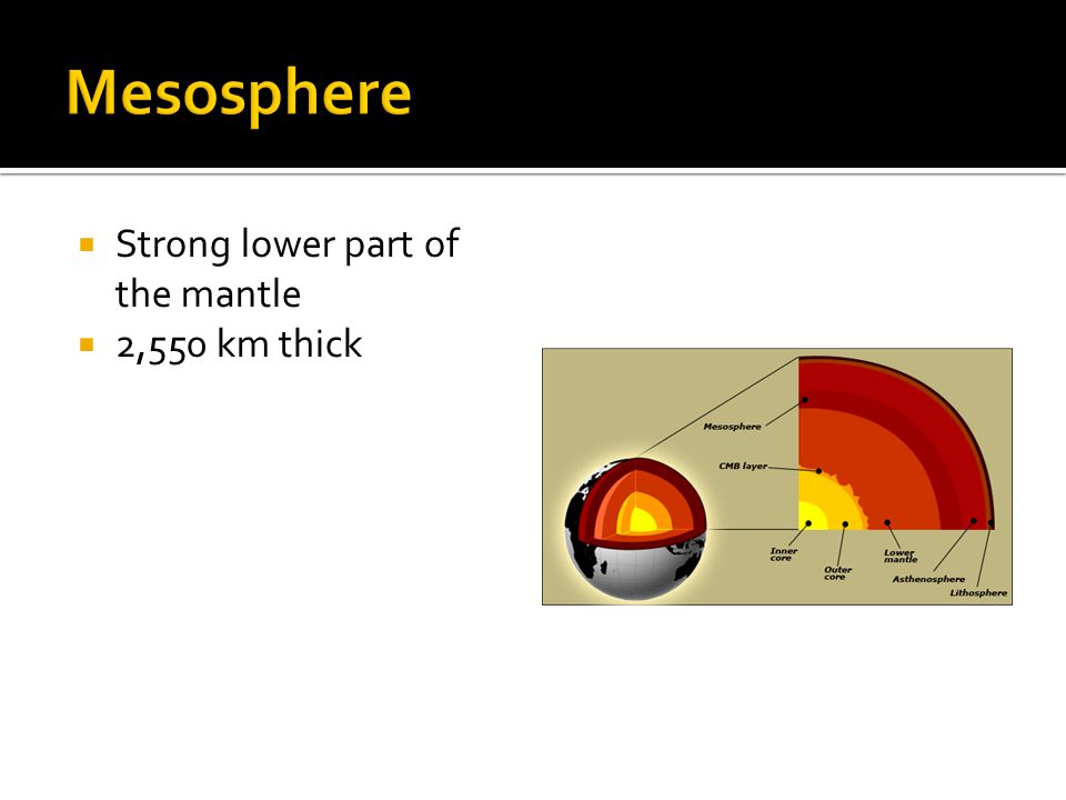  Strong lower part of the mantle  2,550 km thick