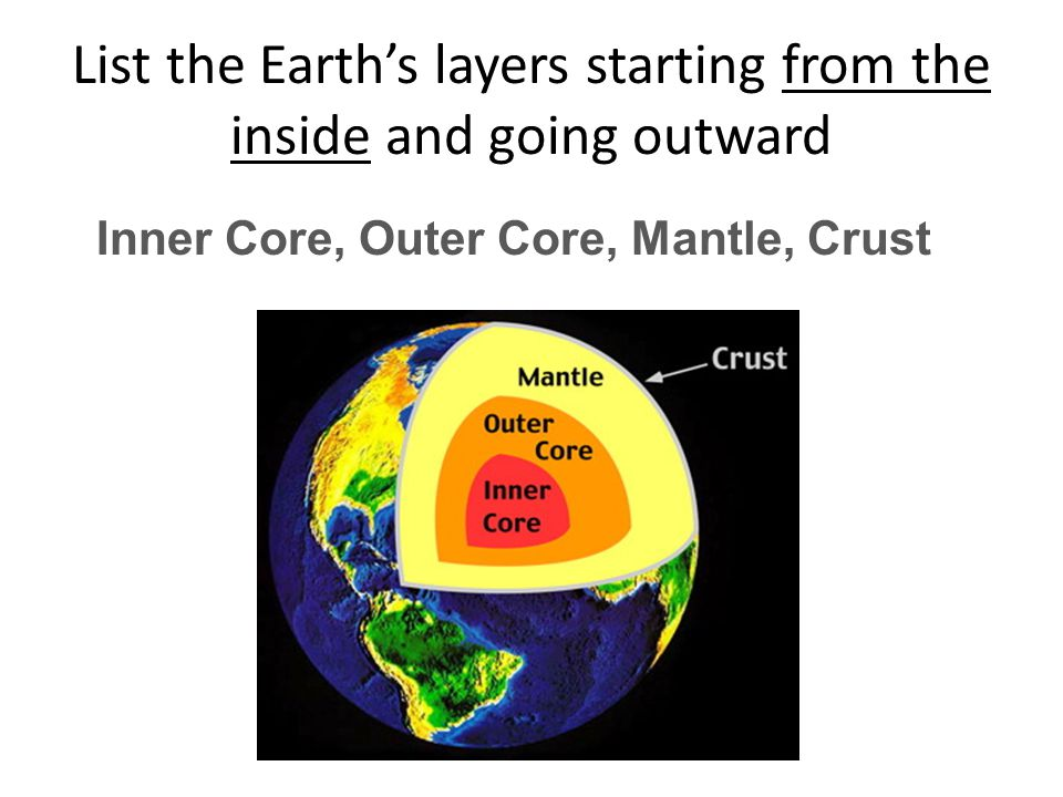 What type of model is our model of the Interior of the Earth CONCEPTUAL MODEL models developed in the mind The interior of the Earth…we CANNOT DIRECTLY OBSERVE IT