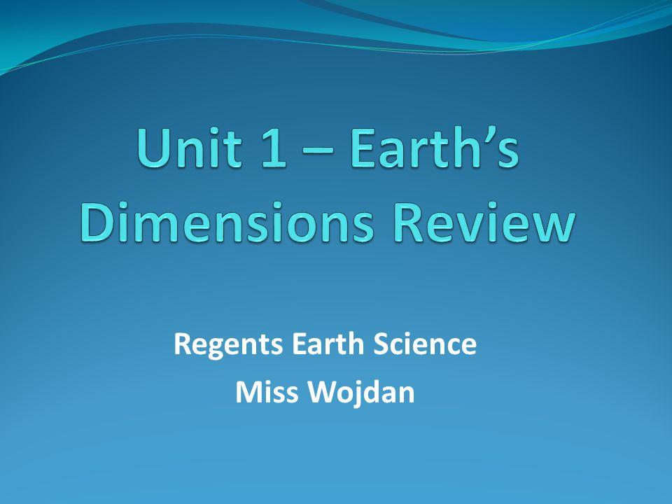 Regents Earth Science Miss Wojdan