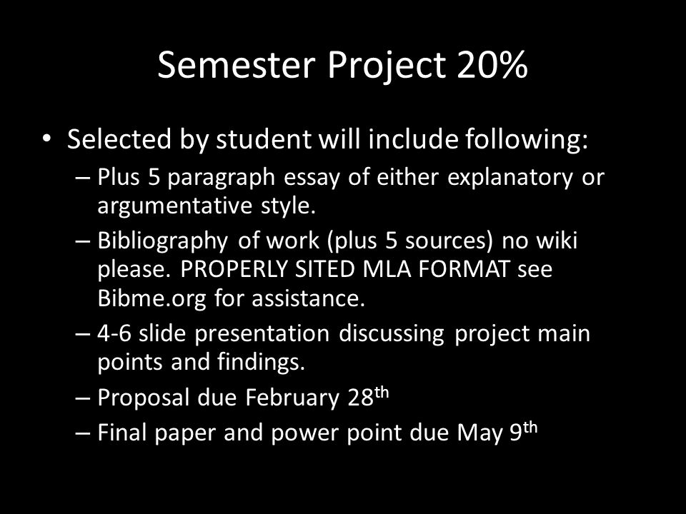 Final Exam 20% Covers all objects for Semester Semester 2: – Periods 1,2 and 3 test on May 21 st – Periods 4, 5 and 6 test on May 22 nd – Seniors in periods 4,5 and 6 must make arrangements to take the exam early due to graduation requirements.