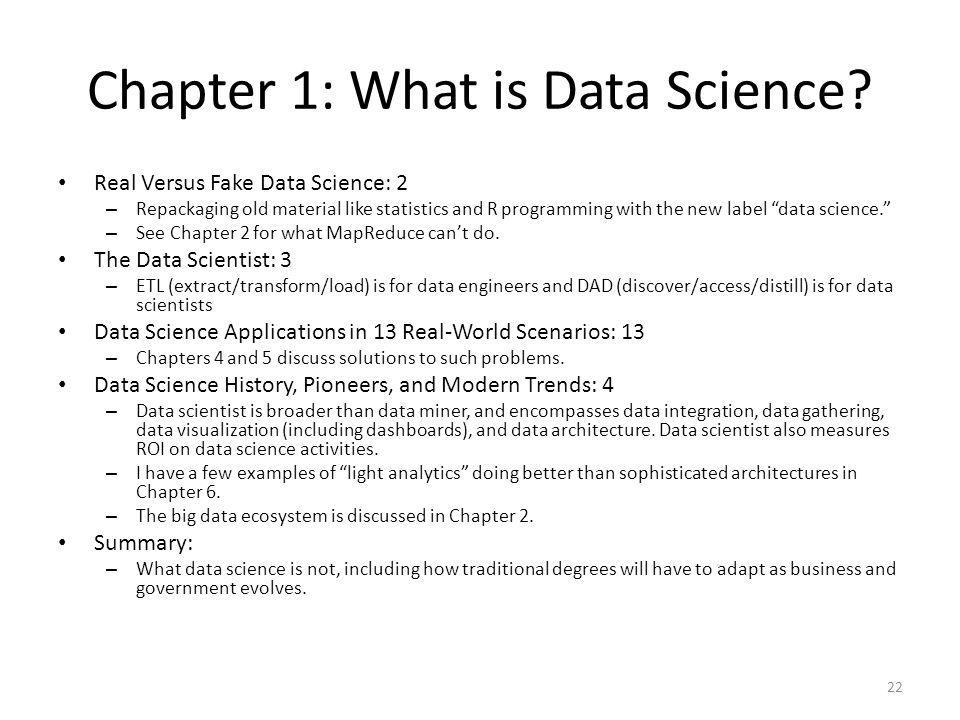 Chapter 1: What is Data Science.
