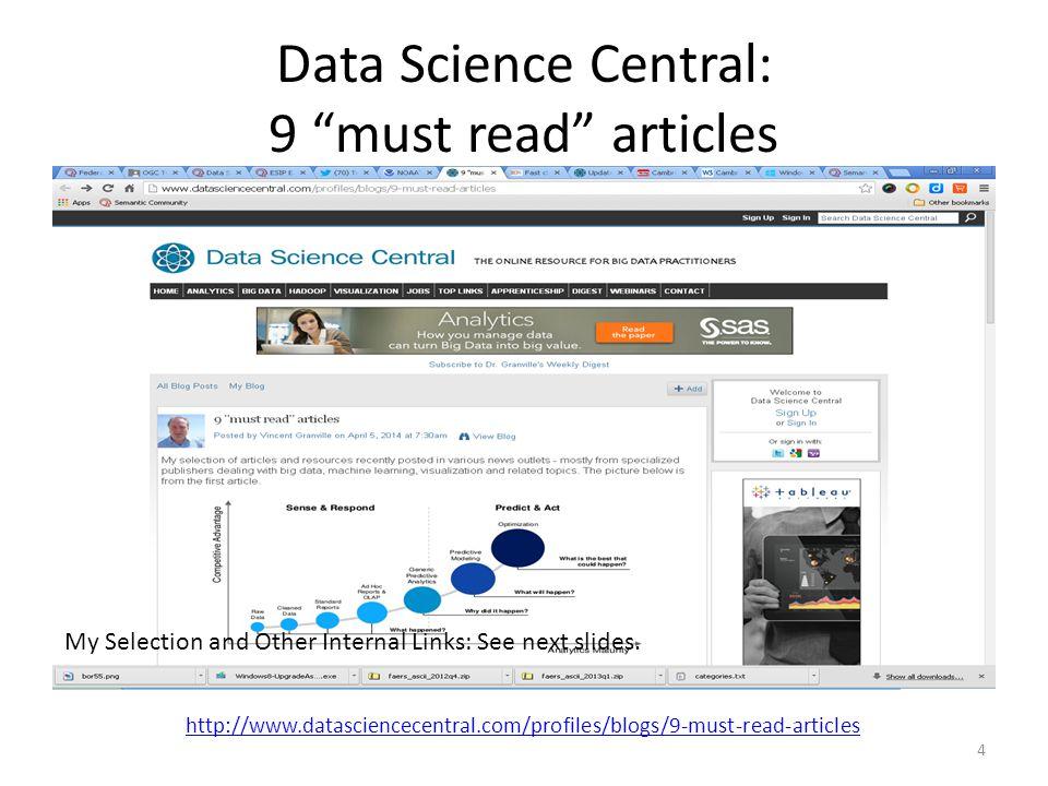 My Selection (Vincent Granville): List Big Data – From Descriptive to Prescriptive Can big data be racist.