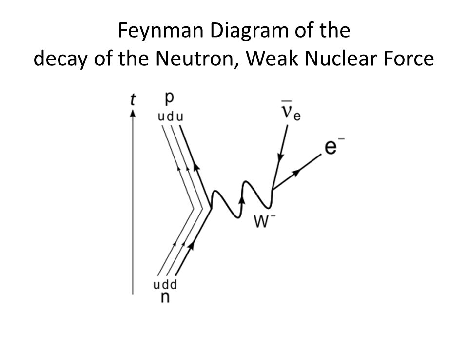 Feynman Diagram of the decay of the Neutron, Weak Nuclear Force