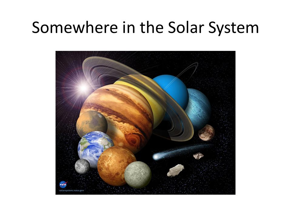 Somewhere in the Solar System